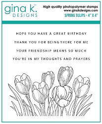 Gina K Designs - Clear Stamp - Spring Tulips