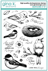 Gina K Designs - Clear Stamp - Beautiful Birds
