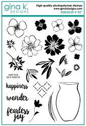 Gina K Designs - Clear Stamp - Fearless Joy