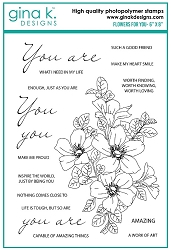 Gina K Designs - Clear Stamp - Flowers for You