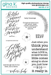 Gina K Designs - Clear Stamp - Baby Girl
