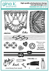 Gina K Designs - Clear Stamp - Macramade with Love