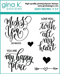 Gina K Designs - Clear Stamp - Hearty Greetings