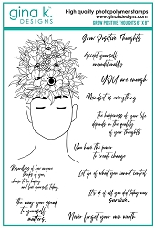 Gina K Designs - Clear Stamp - Grow Positive Thoughts