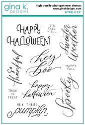 Gina K Designs - Clear Stamp - Hey Boo