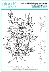 Gina K Designs - Clear Stamp - Innocent Orchid
