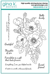 Gina K Designs - Clear Stamp - Timeless Poppies