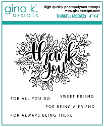 Gina K Designs - Clear Stamp - Thankful Greenery
