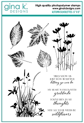 Gina K Designs - Clear Stamp - Autumn Silhouettes