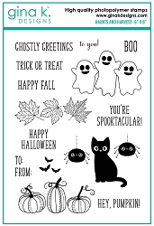 Gina K Designs - Clear Stamp - Haunts and Harvest