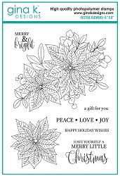 Gina K Designs - Clear Stamp - Festive Flowers