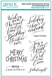 Gina K Designs - Clear Stamp - Handlettered Holiday