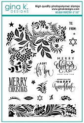Gina K Designs - Clear Stamp - Holiday Tapestry