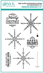 Gina K Designs - Clear Stamp - Ornamental Snowflakes