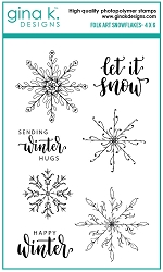 Gina K Designs - Clear Stamp - Folk Art Snowflakes