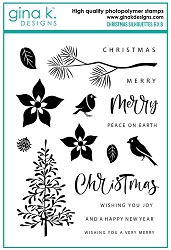 Gina K Designs - Clear Stamp - Christmas Silhouettes