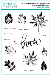 Gina K Designs - Clear Stamp - Layered Leaf Prints
