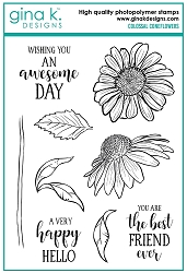 Gina K Designs - Clear Stamp - Colossal Coneflower