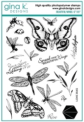 Gina K Designs - Clear Stamp - Beautiful Wings