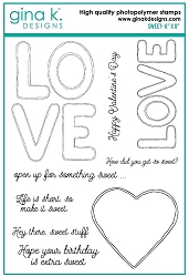 Gina K Designs - Clear Stamp - Sweet