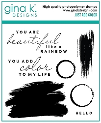 Gina K Designs - Clear Stamp - Just Add Color