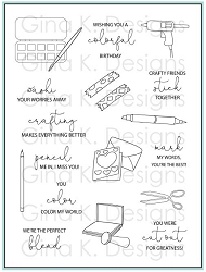 Gina K Designs - Clear Stamp - Crafty Notes