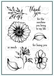 Gina K Designs - Clear Stamp - Vibrant Blooms