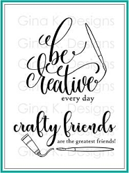 Gina K Designs - Clear Stamp - Crafty and Creative