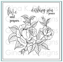 Gina K Designs - Clear Stamp - Peaceful Roses