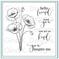 Gina K Designs - Clear Stamp - Inspiring Poppies