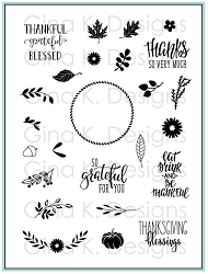 Gina K Designs - Clear Stamp - Autumn Wreath Builder
