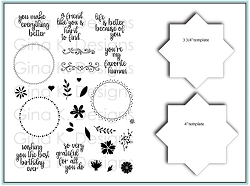 Gina K Designs - Clear Stamp - Wreath Builder Bundle