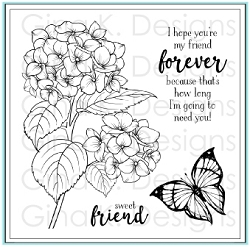 Gina K Designs - Clear Stamp - Heartfelt Hydrangea
