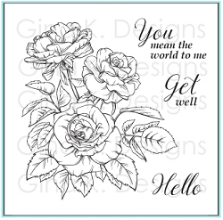 Gina K Designs - Clear Stamp - Rose Bouquet