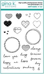Gina K Designs - Clear Stamp - Happy Hearts
