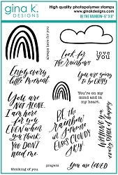 Gina K Designs - Clear Stamp - Be The Rainbow