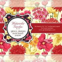 Gina K Designs - 6x6 paper - Watercolor Garden
