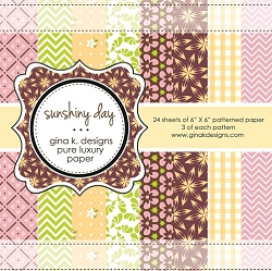Gina K Designs - 6x6 paper - Sunshiny Day