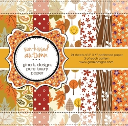 Gina K Designs - 6x6 paper - Sun Kissed Autumn