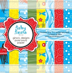 Gina K Designs - 6x6 paper - Fishy Fiesta