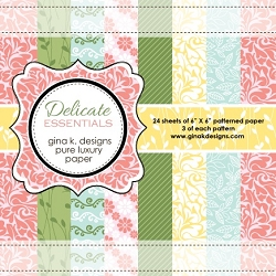 Gina K Designs - 6x6 paper - Delicate Essentials