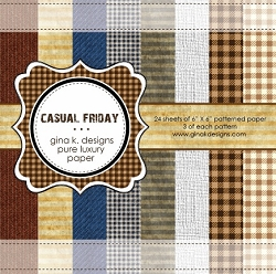 Gina K Designs - 6x6 paper - Casual Friday