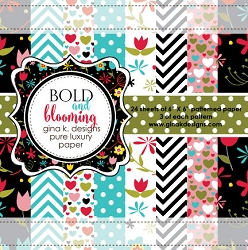 Gina K Designs - 6x6 paper - Bold and Blooming