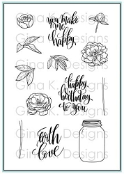 Gina K Designs - Clear Stamp - You make me happy
