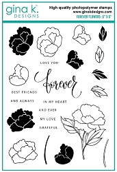 Gina K Designs - Clear Stamp - Forever Flowers