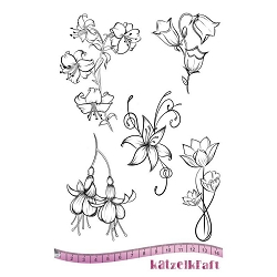 Katzelkraft - A5 Unmounted Rubber Stamp Sheet - Hibiscus (5.5