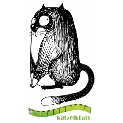 Katzelkraft - Solo Unmounted Rubber Stamp - Les Gros Chats (Fat Cats) Blacky