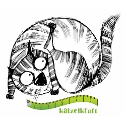 Katzelkraft - Solo Unmounted Rubber Stamp - Les Gros Chats (Fat Cats) Elmer