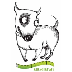 Katzelkraft - Solo Unmounted Rubber Stamp - Chien (Dog) Sidony
