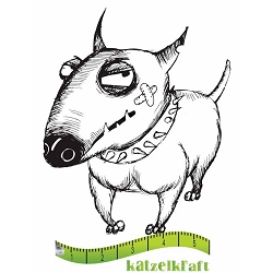 Katzelkraft - Solo Unmounted Rubber Stamp - Chien (Dog) Voody
